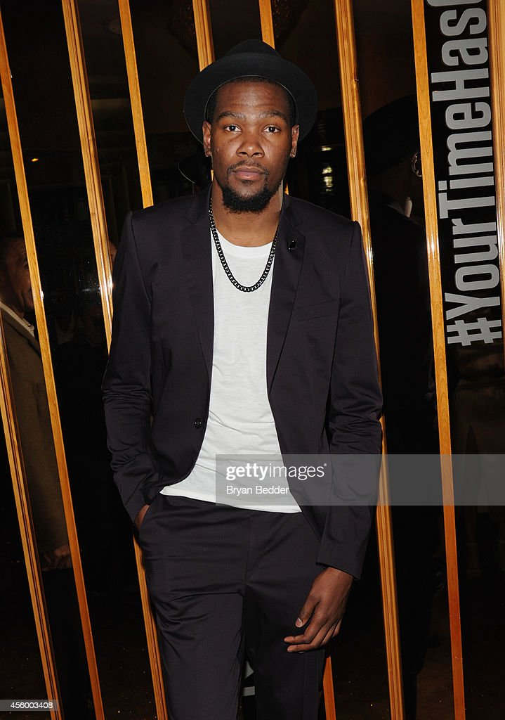 NBA player Kevin Durant attends NBA 2K15 Launch Celebration at The Standard on September 23, 2014 in New York City.