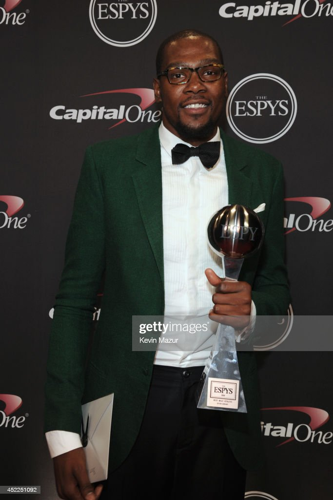 NBA player Kevin Durant attends The 2014 ESPY Awards at Nokia Theatre L.A. Live on July 16, 2014 in Los Angeles, California.