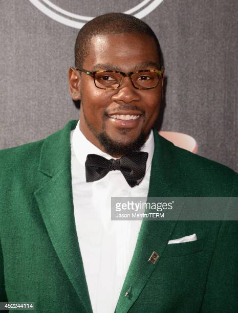 NBA player Kevin Durant attends The 2014 ESPYS at Nokia Theatre LA Live on July 16 2014 in Los Angeles California