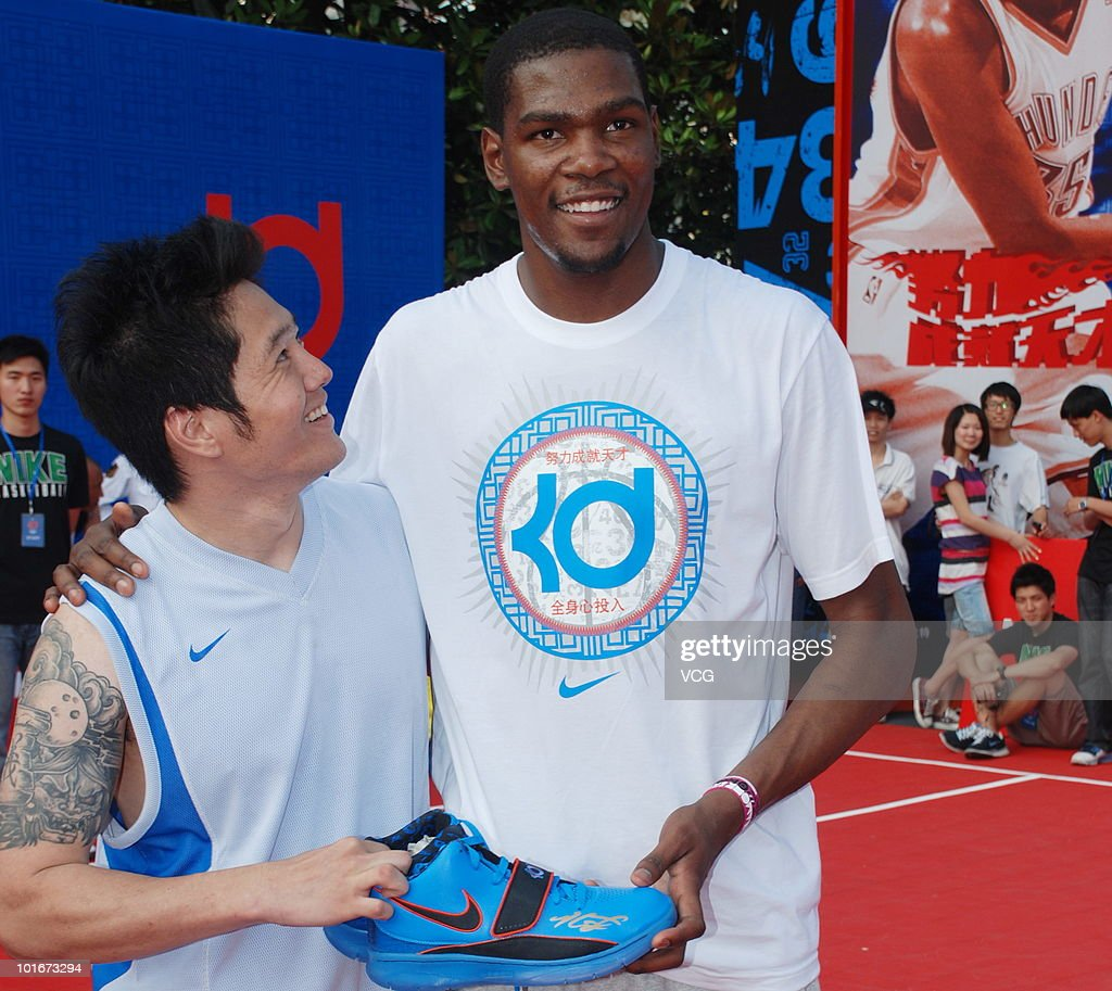 NBA player Kevin Durant of the Oklahoma City Thunder attends a NIKE training camp on June 6, 2010 in Shanghai, China.
