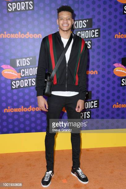 Player Kevin Knox attends the Nickelodeon Kids' Choice Sports 2018 at Barker Hangar on July 19, 2018 in Santa Monica, California.