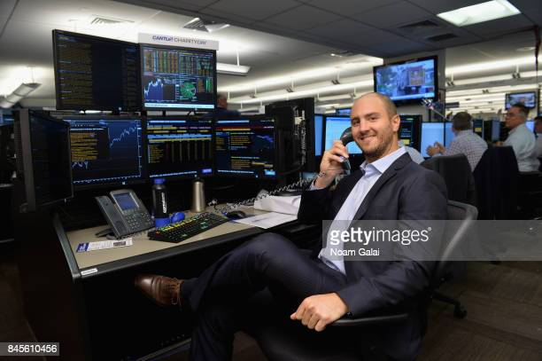 NHL player Kevin Shattenkirk participates in Annual Charity Day hosted by Cantor Fitzgerald BGC and GFI at Cantor Fitzgerald on September 11 2017 in...