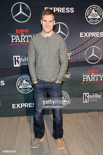 NFL player Kirk Cousins attends ESPN The Party on February 5 2016 in San Francisco California