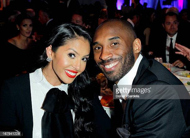 "NBA player Kobe Bryant and Vanessa Bryant attend EIF Women's Cancer Research Fund's 16th Annual ""An Unforgettable Evening"" presented by Saks Fifth..."