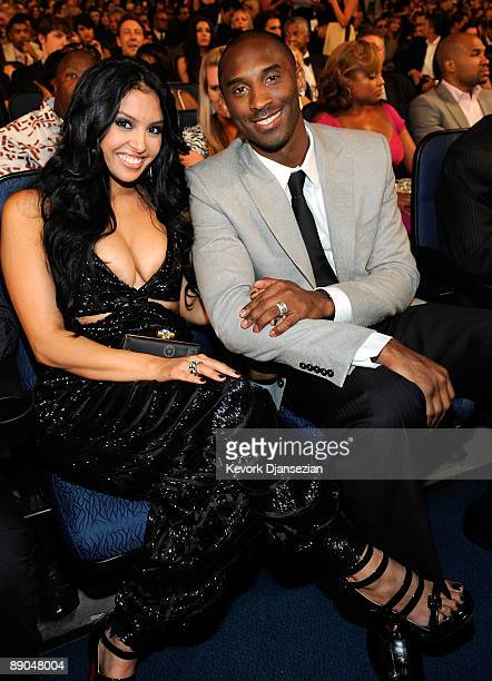 NBA player Kobe Bryant and wife Vanessa during the 2009 ESPY awards held at Nokia Theatre LA Live on July 15 2009 in Los Angeles California The 17th...