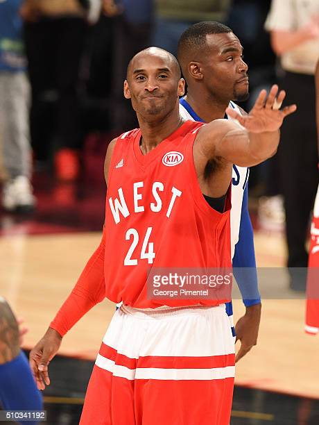 af63264c4 NBA player Kobe Bryant attend the 2016 NBA AllStar Game at Air Canada  Centre on February