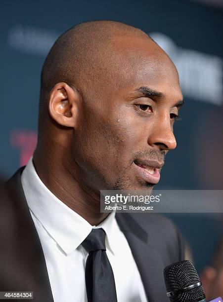 NBA player Kobe Bryant attends the premiere of Showtime's 'Kobe Bryant's Muse' at The London Hotel on February 26 2015 in West Hollywood California