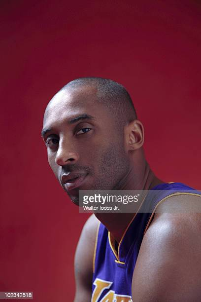 NBA player Kobe Bryant poses at a portrait session for Sports Illustrated on March 25 2010 in Oklahoma City Oklahoma CREDIT MUST READ Walter Iooss...