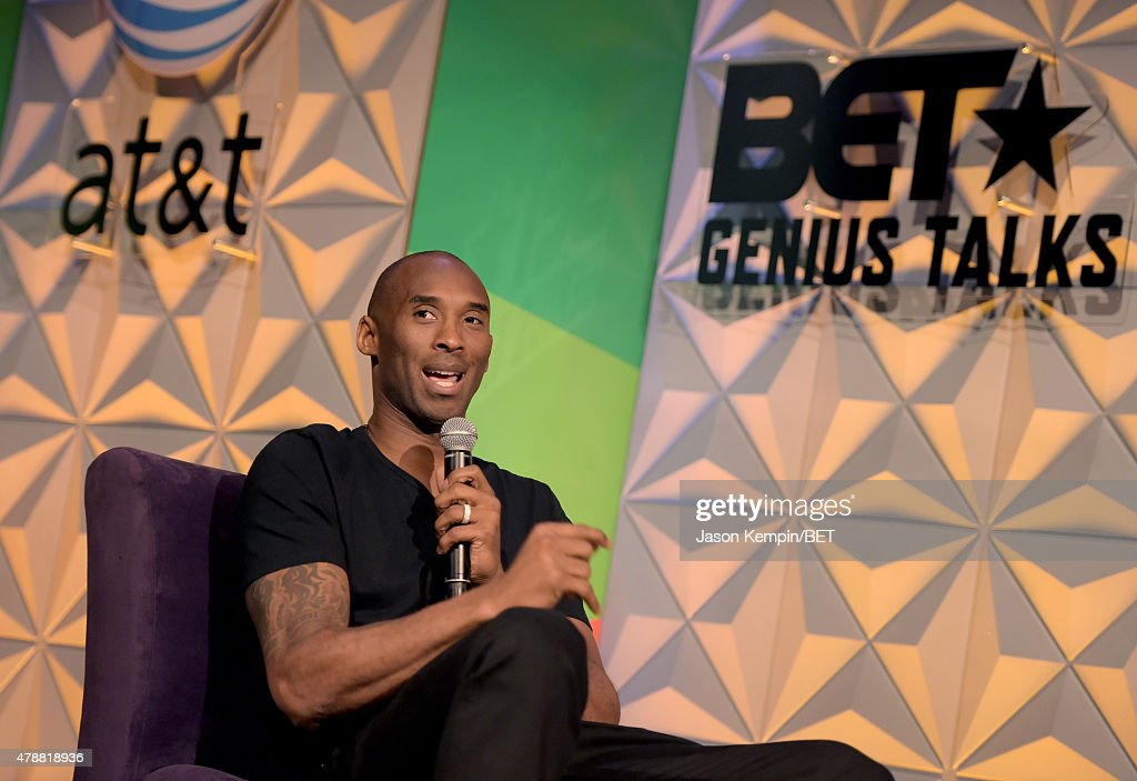 NBA player Kobe Bryant speaks onstage during the Genius Talks presented by AT&T during the 2015 BET Experience at the Los Angeles Convention Center on June 27, 2015 in Los Angeles, California.