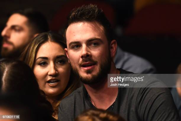 MLB player Kris Bryant and his wife Jessica attend the UFC 225 event at the United Center on June 9 2018 in Chicago Illinois
