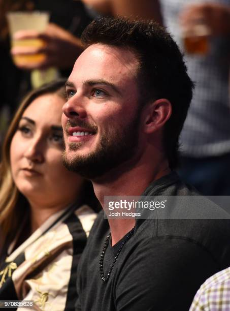MLB player Kris Bryant attends the UFC 225 event at the United Center on June 9 2018 in Chicago Illinois