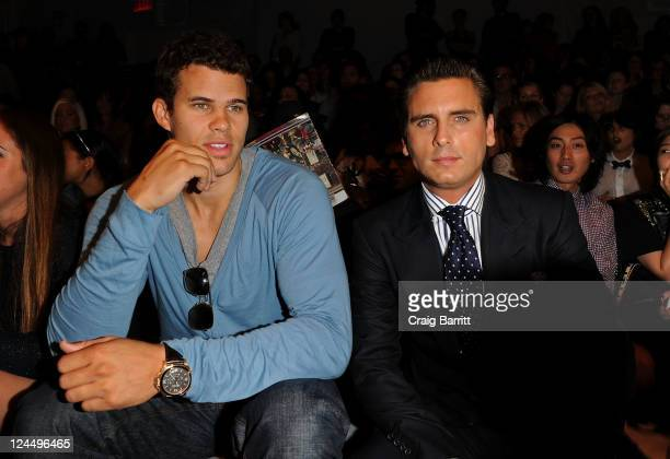 NBA player Kris Humphries and TV personality Scott Disick attend the Jill Stuart Spring 2012 fashion show during MercedesBenz Fashion Week at The...