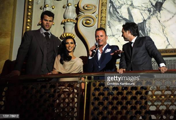 NBA player Kris Humphries Kim Kardashian Colin Cowie and Jason Binn attend A Night of Style Glamour to welcome newlyweds Kim Kardashian and Kris...
