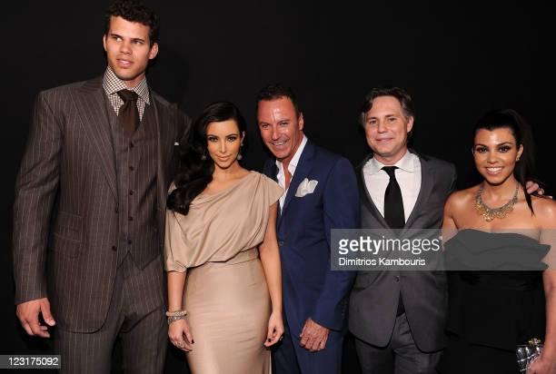 NBA player Kris Humphries Kim Kardashian Colin Cowie Jason Binn and Kourtney Kardashian attend A Night of Style Glamour to welcome newlyweds Kim...