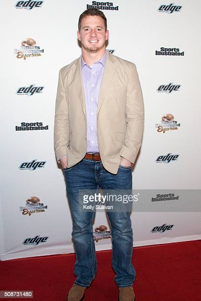 NFL player Kyle Emanuel arrives on the red carpet at the Sports Illustrated Friday Night Party on February 5 2016 in San Francisco California