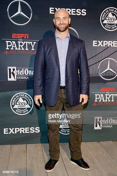 NFL player Kyle Long attends ESPN The Party on February 5 2016 in San Francisco California