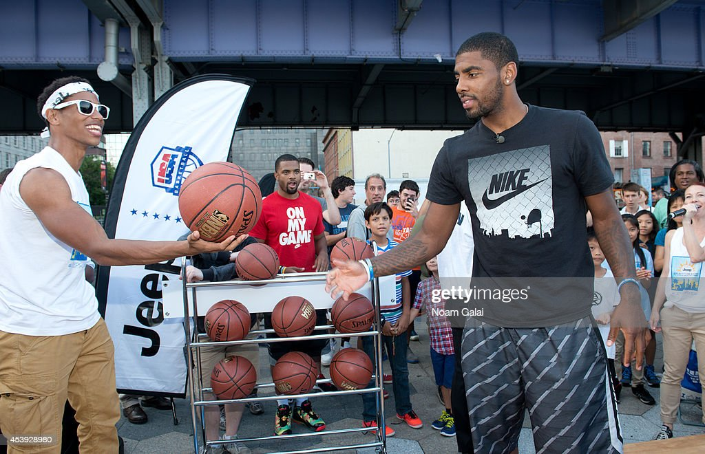 NBA player Kyrie Irving attends The Summer Of Jeep at South Street Seaport on August 21, 2014 in New York City.