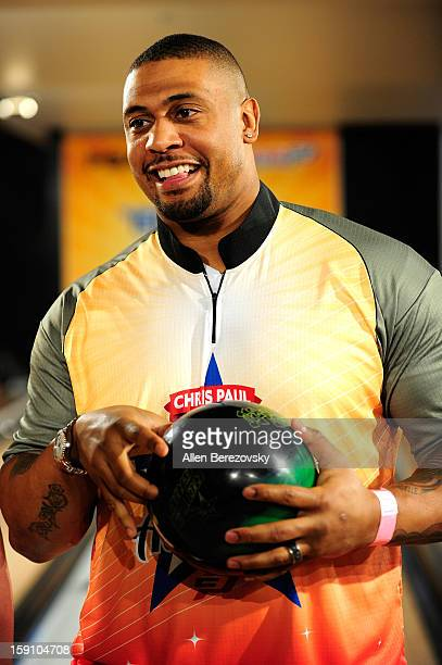 NFL player LaMarr Woodley attends the 5th annual Chris Paul PBA AllStars Invitational hosted by LA Clippers star guard Chris Paul at Lucky Strike...