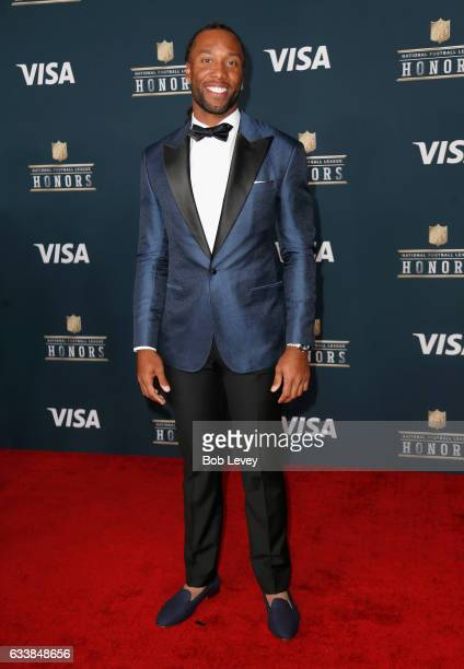 NFL player Larry Fitzgerald attends 6th Annual NFL Honors at Wortham Theater Center on February 4 2017 in Houston Texas