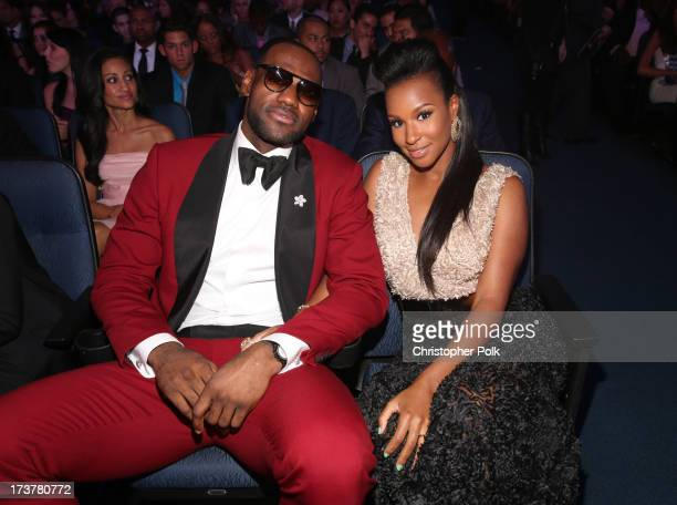 NBA player LeBron James and Savannah Brinson attend The 2013 ESPY Awards at Nokia Theatre LA Live on July 17 2013 in Los Angeles California
