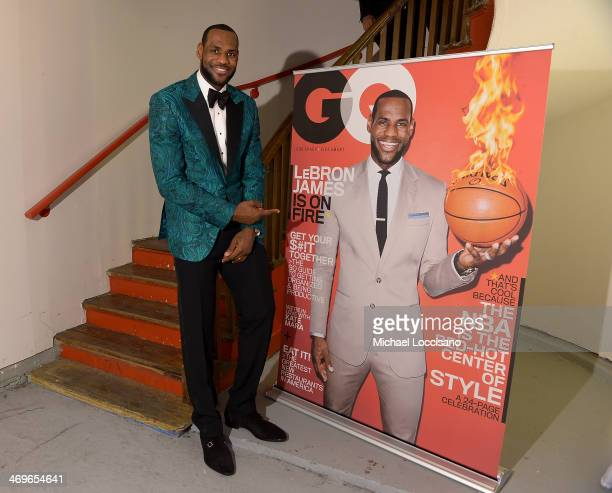 Player LeBron James attends GQ & LeBron James NBA All Star Party Sponsored By Samsung Galaxy And Beats at Ogden Museum's Patrick F. Taylor Library on...