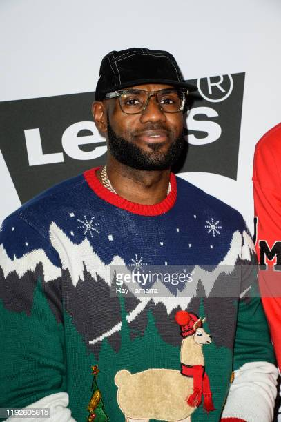 Player LeBron James attends the 2nd Annual Juglife Ugly Sweater Holiday Party at Levi's Haus on December 07, 2019 in Los Angeles, California.