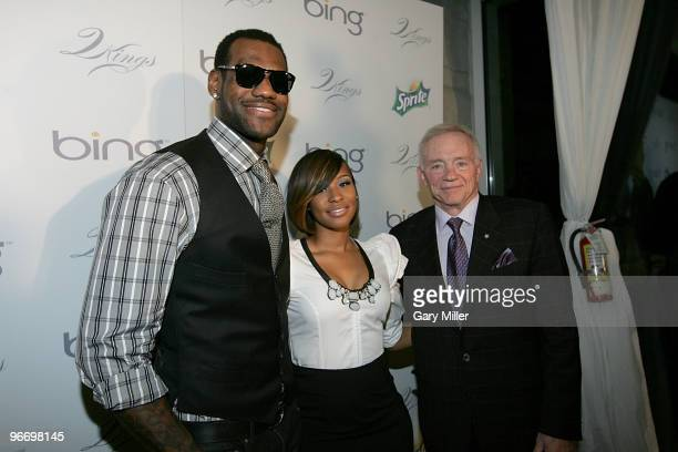 NBA player LeBron James Savannah Brinson and Dallas Cowboys owner Jerry Jones on the red carpet at the 4th annual Two Kings Dinner hosted by JayZ and...