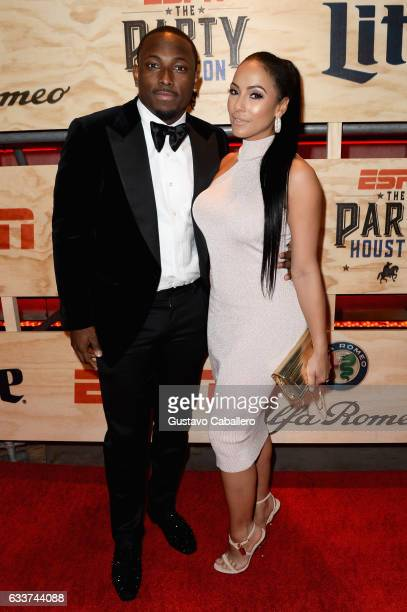 NFL player LeSean McCoy and designer Delicia Cordon attend the 13th Annual ESPN The Party on February 3 2017 in Houston Texas