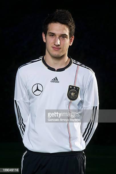 Player Levin Oztunali poses during the Germany U17 team presentation at La Manga Club training ground H on January 6, 2013 in La Manga, Spain.