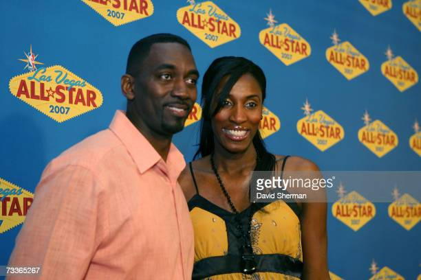 WNBA player Lisa Leslie and her husband Michael Lockwood arrives at the 2007 NBA AllStar Game on February 18 2007 at the Thomas Mack Center in Las...