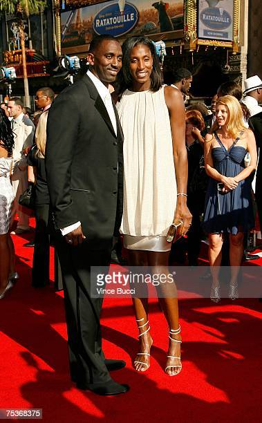 WNBA player Lisa Leslie and husband Michael Lockwood arrive at the 2007 ESPY Awards at the Kodak Theatre on July 11 2007 in Hollywood California