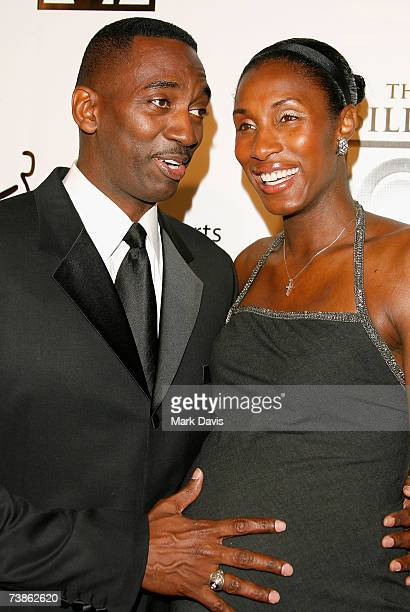 WNBA player Lisa Leslie and husband Michael Lockwood arrive for The Billies presented by The Women's Sports Foundation at the Beverly Hilton Hotel on...