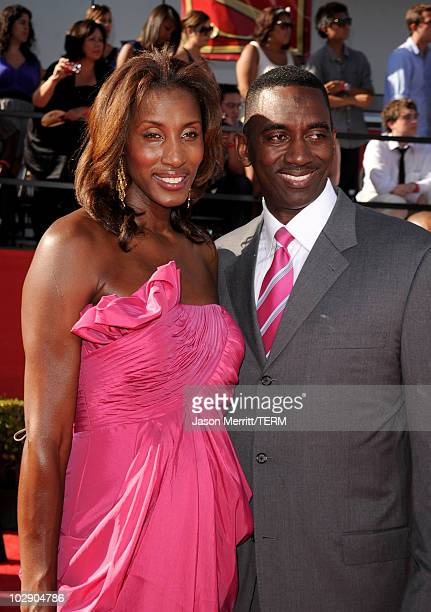 WNBA player Lisa Leslie and husband Michael Lockwood arrives at the 2010 ESPY Awards at Nokia Theatre LA Live on July 14 2010 in Los Angeles...