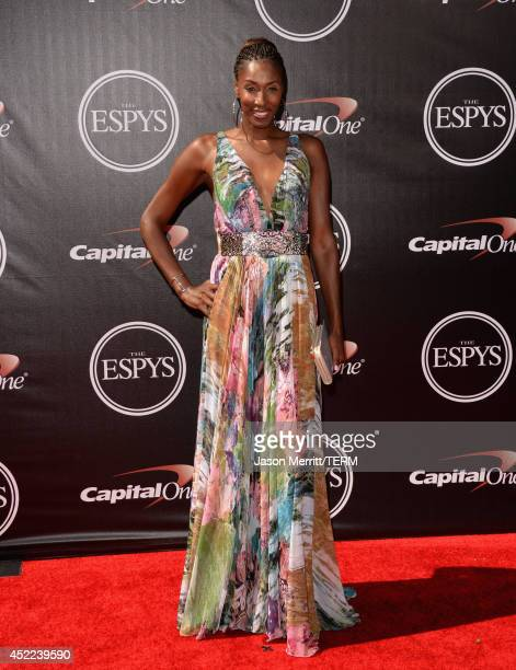 WNBA player Lisa Leslie attends The 2014 ESPYS at Nokia Theatre LA Live on July 16 2014 in Los Angeles California