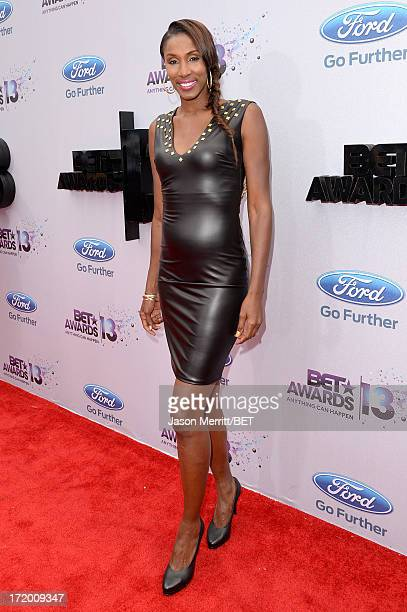 WNBA player Lisa Leslie attends the Ford Red Carpet at the 2013 BET Awards at Nokia Theatre LA Live on June 30 2013 in Los Angeles California