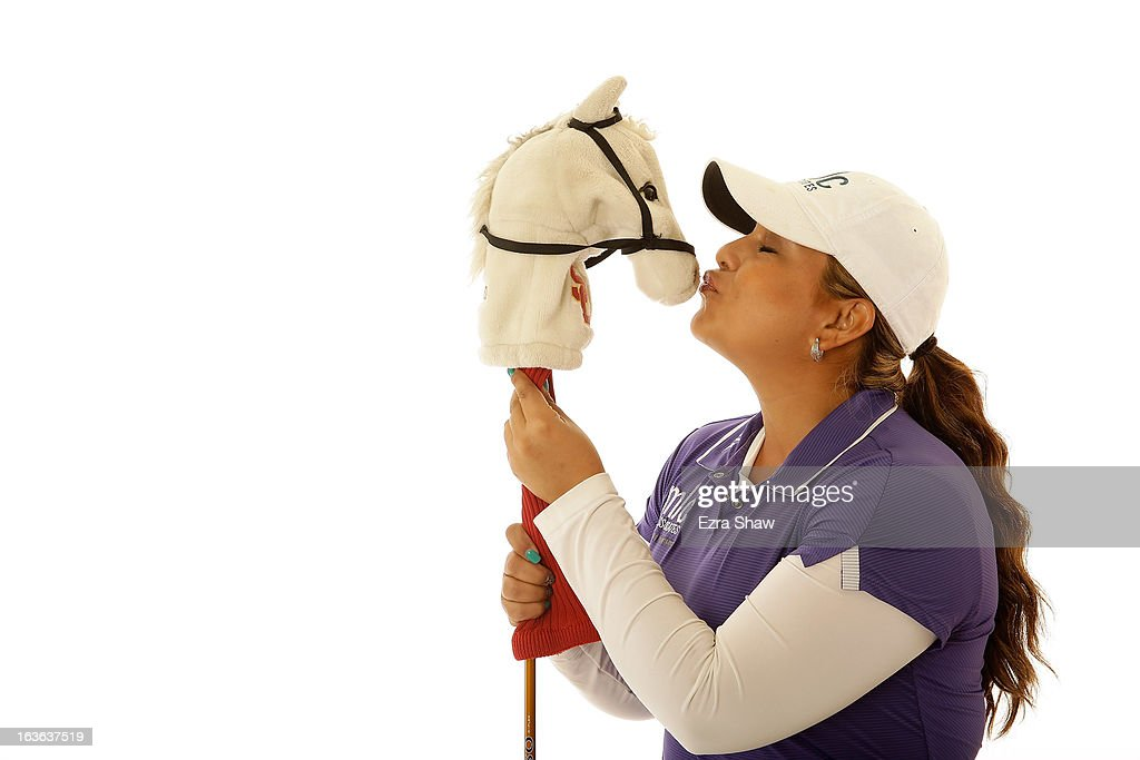 LPGA player Lizette Salas poses for a portrait prior to the start of the RR Donnelley Founders Cup at the JW Marriott Desert Ridge Resort on March 13, 2013 in Phoenix, Arizona.