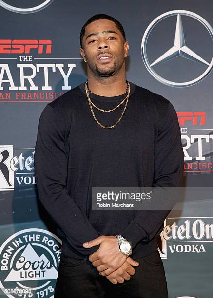 NFL player Malcolm Butler attends ESPN The Party on February 5 2016 in San Francisco California