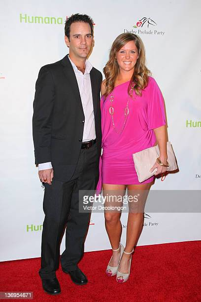 LPGA player Mallory Blackwelder and Julian Blackwelder arrive at the Los Angeles Kentucky Derby Prelude Party at The London Hotel on January 12 2012...