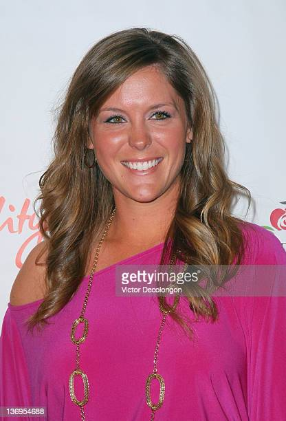 LPGA player Mallory Blackwelder arrives at the Los Angeles Kentucky Derby Prelude Party at The London Hotel on January 12 2012 in West Hollywood...