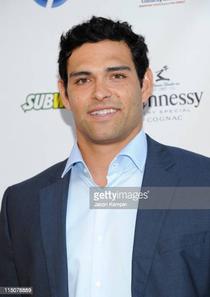 NFL player Mark Sanchez attends NY Giants Justin Tuck's 3rd Annual Celebrity Billiards Tournament at Slate on June 2 2011 in New York City