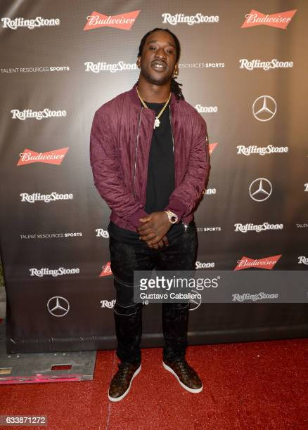 NFL player Markus Golden at the Rolling Stone Live Houston presented by Budweiser and MercedesBenz on February 4 2017 in Houston Texas Produced in...