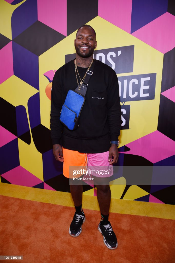 NFL player Martellus Bennett attends the Nickelodeon Kids' Choice Sports 2018 at Barker Hangar on July 19, 2018 in Santa Monica, California.
