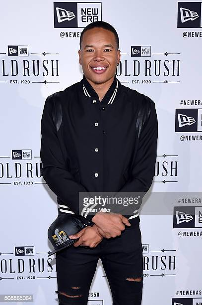 Player Marvin Jones attends the New Era Super Bowl party at The Battery on February 6, 2016 in San Francisco, California.