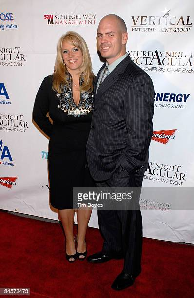 NFL player Matt Bryant and wife Melissa Bryant attend the 3rd Annual Saturday Night Spectacular hosted by Kevin Costner and Michael Strahan and...
