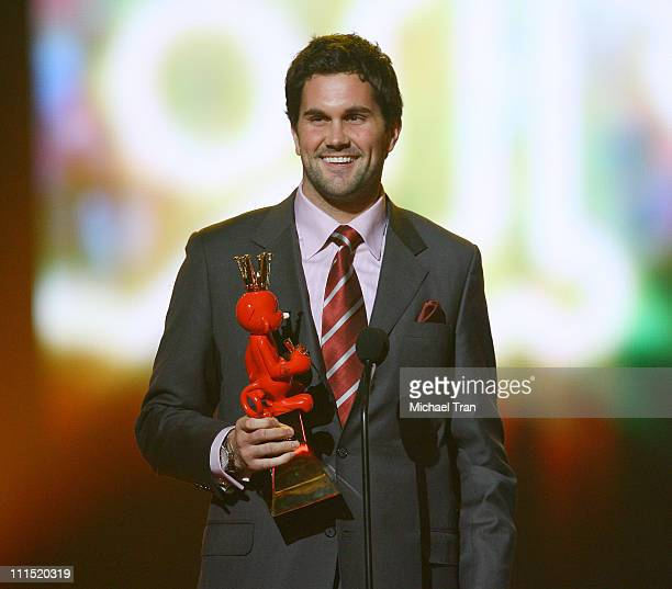 NFL player Matt Leinart accept the Best Team Sports Game Award for 'Madden NFL 08' at Spike TV's 2007 'Video Game Awards' at the Mandalay Bay Events...