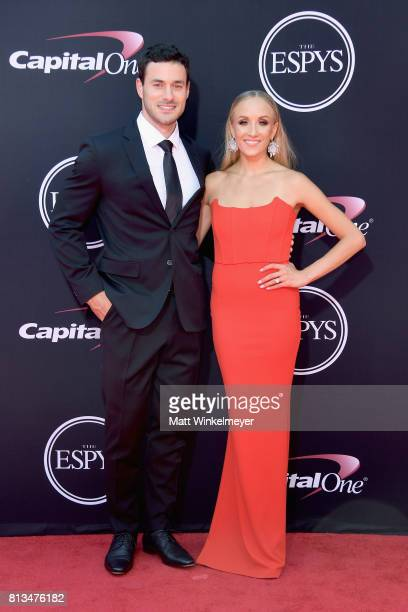 NHL player Matt Lombardi and former Olympic gymnast Nastia Liukin attend The 2017 ESPYS at Microsoft Theater on July 12 2017 in Los Angeles California