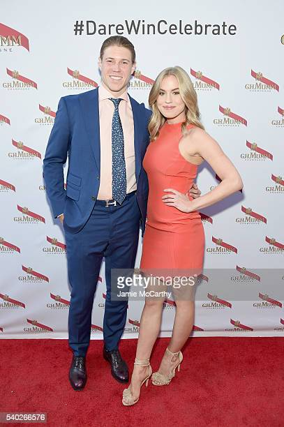 NHL player Matt Martin and Sydney Esiason attend the Mumm Champagne new 'Daring Delivery' film with Kellan Lutz celebration on June 14 2016 in New...