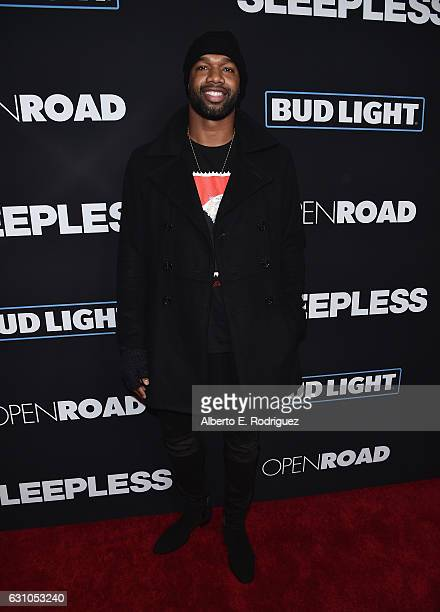 NFL player Mercedes Lewis attends the Premiere of Open Road Films' Sleepless at Regal LA Live Stadium 14 on January 5 2017 in Los Angeles California