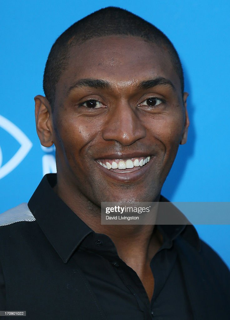 NBA player Metta World Peace attends Time Warner Cable Media (TWC Media) 'View From The Top' Upfront at Vibiana on June 19, 2013 in Los Angeles, California.