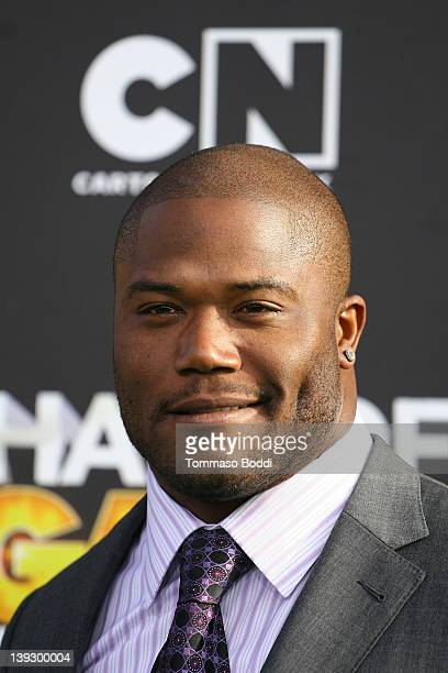NFL player Michael Robinson attends the Cartoon Network's Hall Of Game Awards at Barker Hangar on February 18 2012 in Santa Monica California